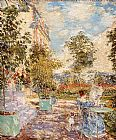 childe hassam In a French Garden painting